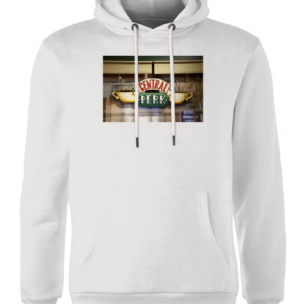 Friends Central Perk Coffee Sign Hoodie – White