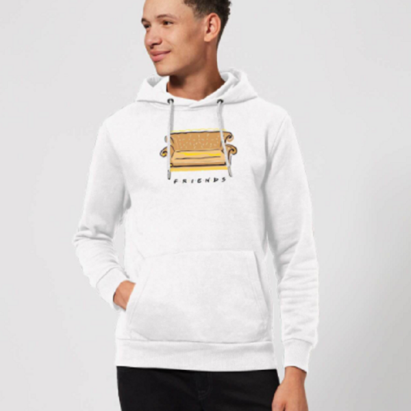 Friends Couch Hoodie – White
