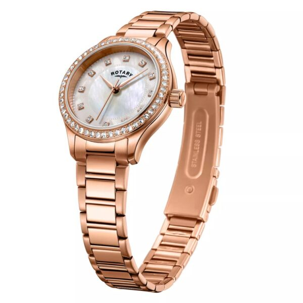 Rotary Exclusive Ladies' Rose Gold Bracelet Watch