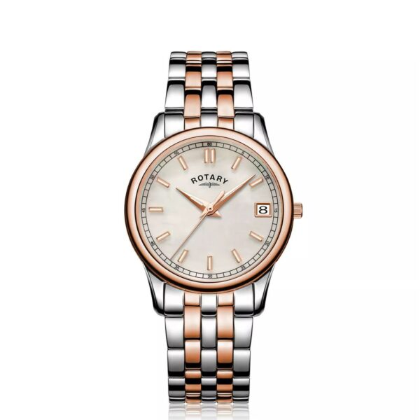 Rotary MOP Ladies' Two Tone Bracelet Watch