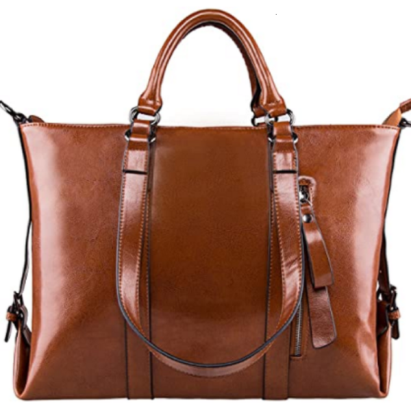 3-Way Ladies Genuine Leather Tote Bag