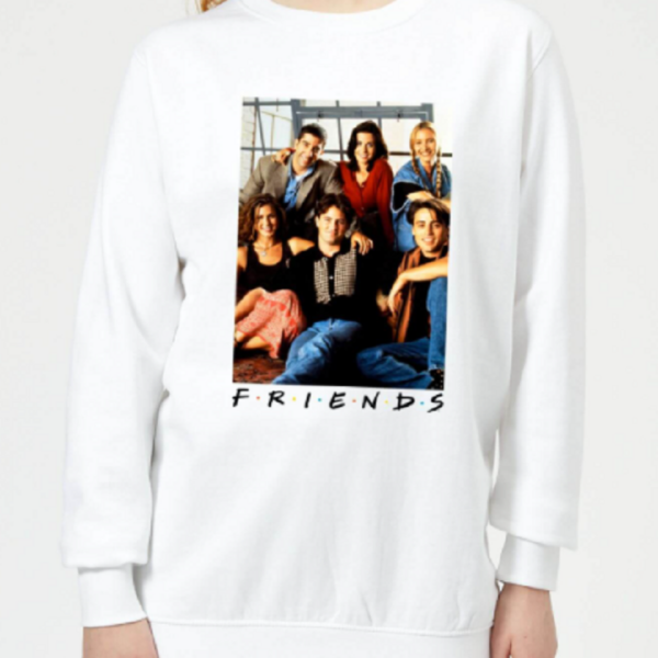 Friends Group Photo Women's Sweatshirt – White