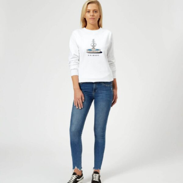Friends Fountain Women's Sweatshirt – White