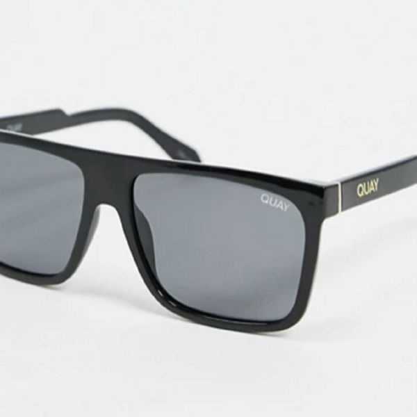 Black Front Runner mens square sunglasses