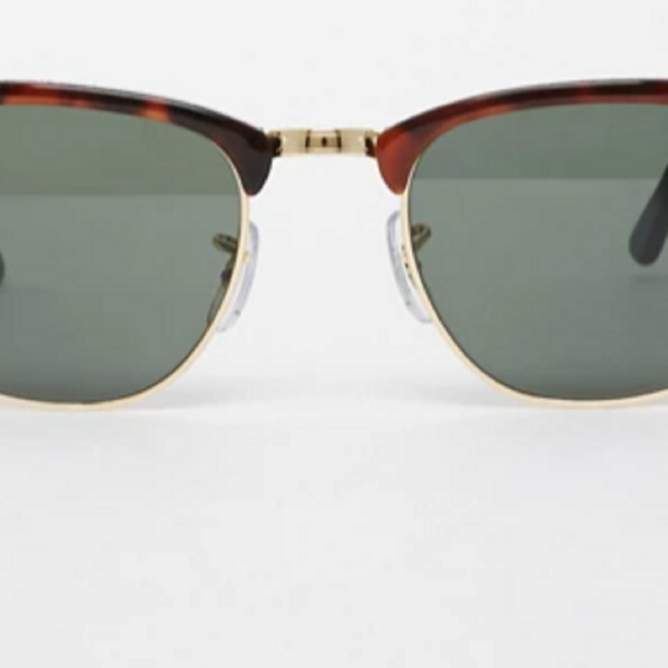 Brown Ray-Ban Clubmaster sunglasses