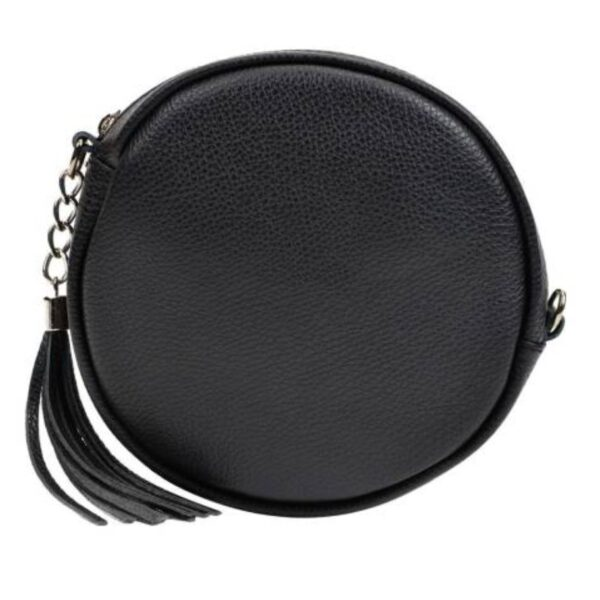 ANNA LUCHINI Black Leather Crossbody Bag