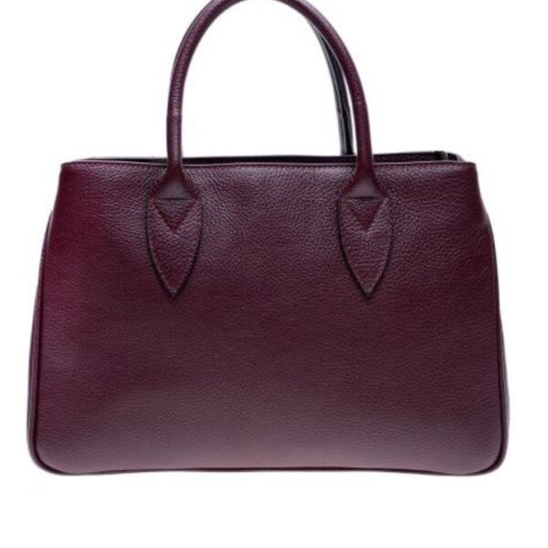 ANNA LUCHINI Red Leather Top Handle Bag