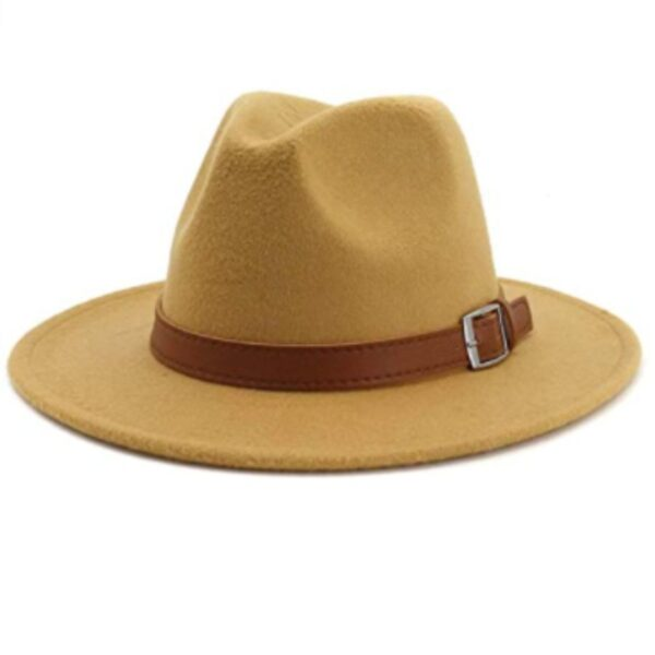 Camel Classic Men & Women Wide Brim Hat with Belt Buckle
