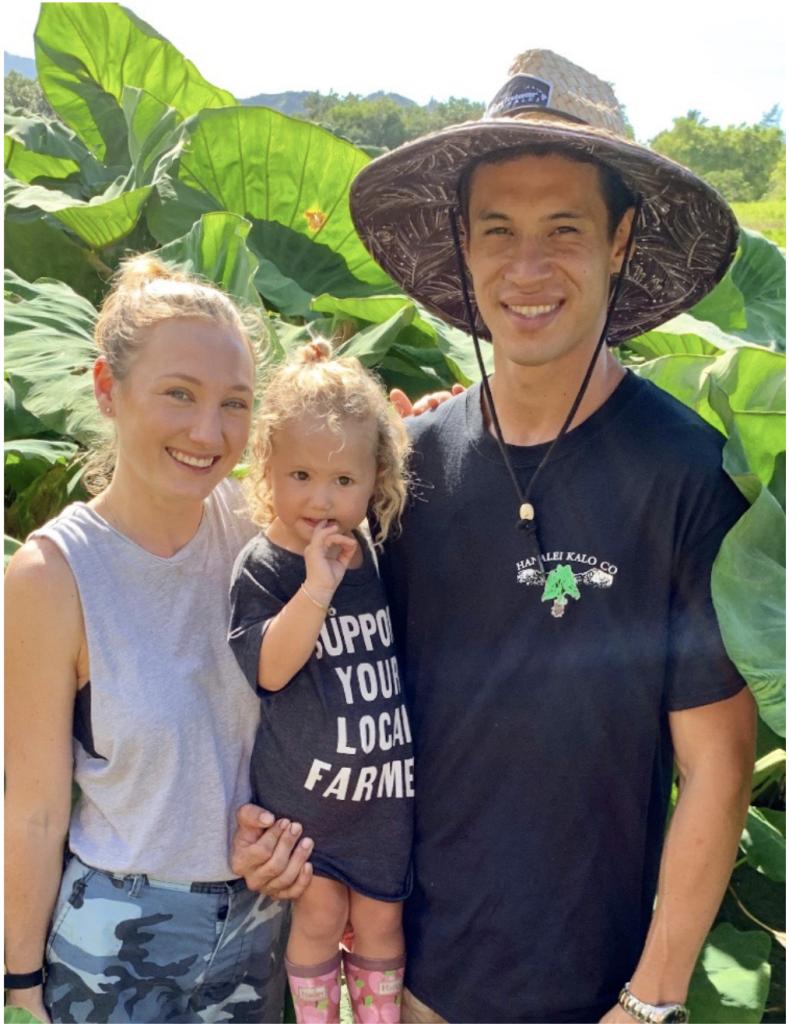 Farmer Kaisen Carrillo and his family on his farm.