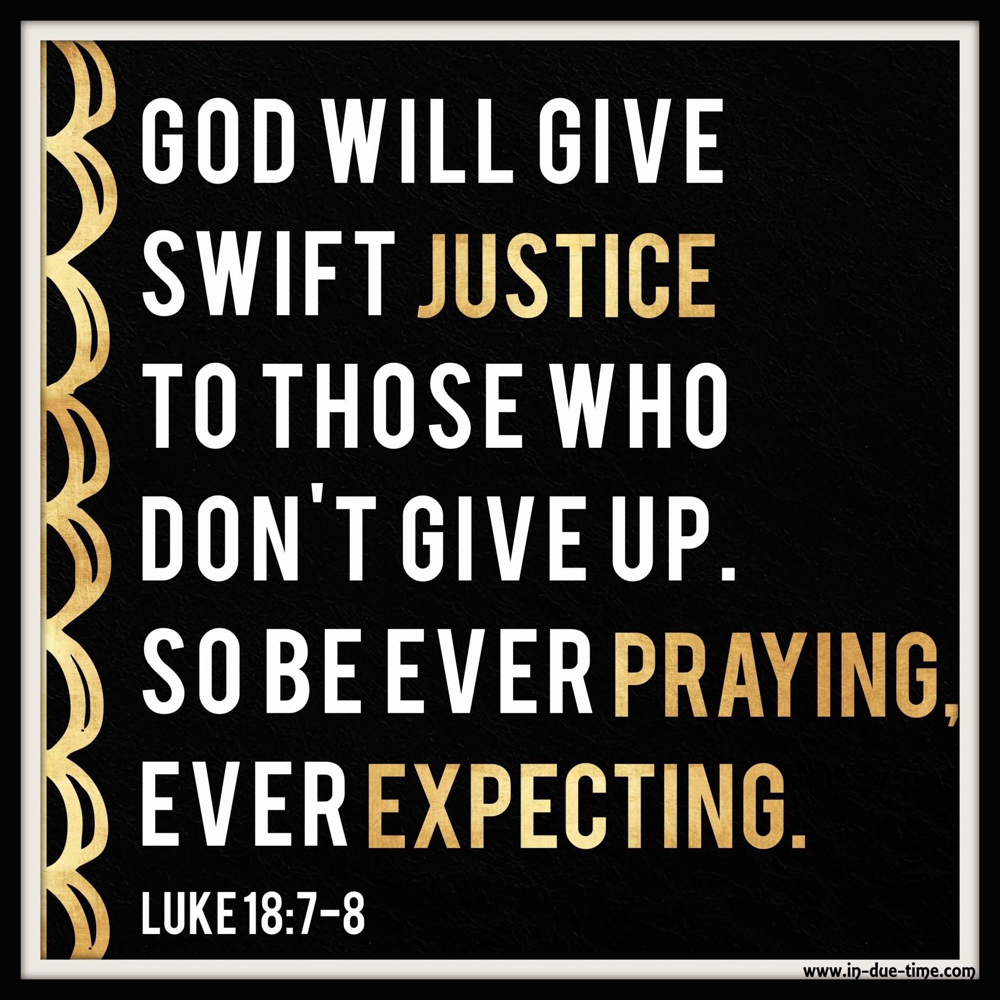 Daily Bible Reading: Luke 18:1-17