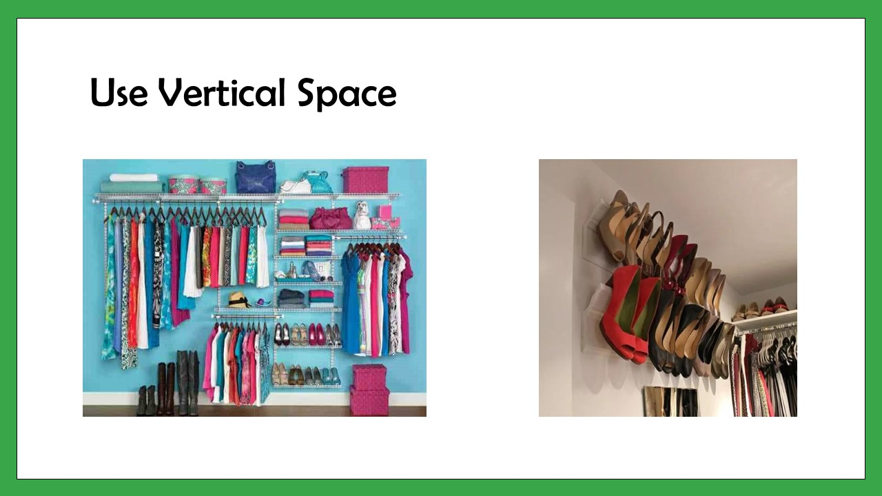 Vertical space in your Closet