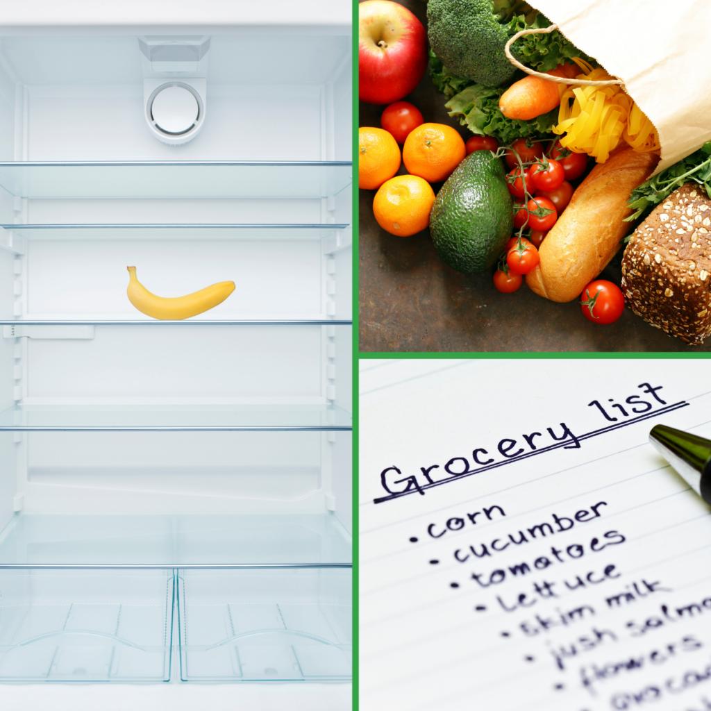 Organize your fridge: groceries