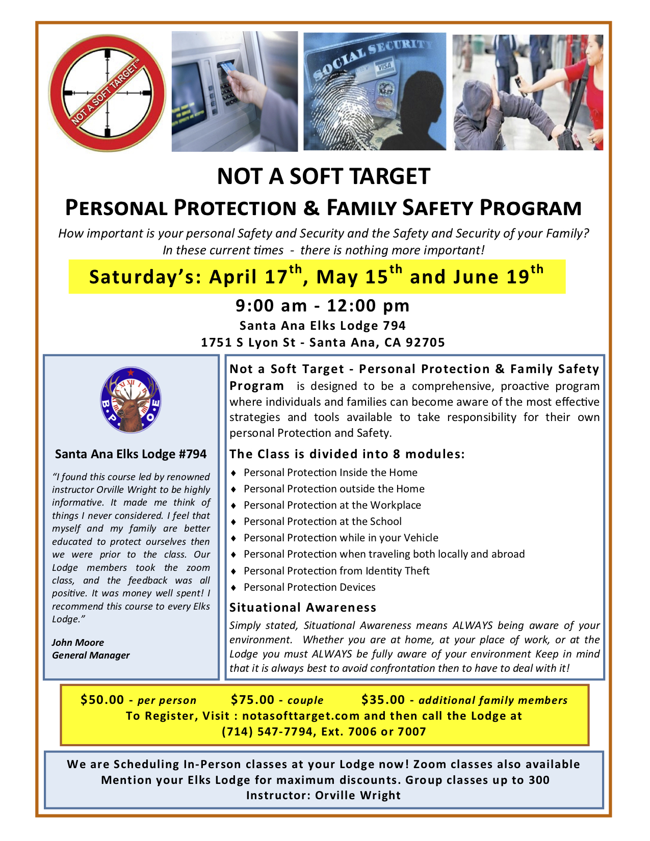 personal protection program