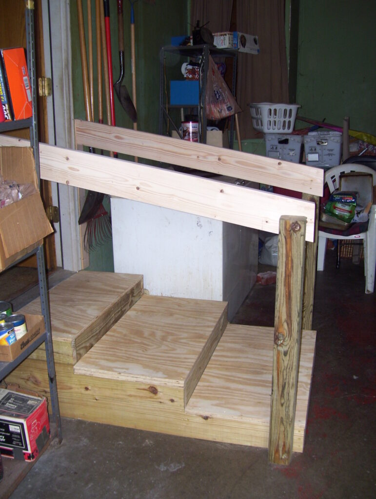 Photo: Wood Low-Rise Platform steps installed by Accessibility Remodeling