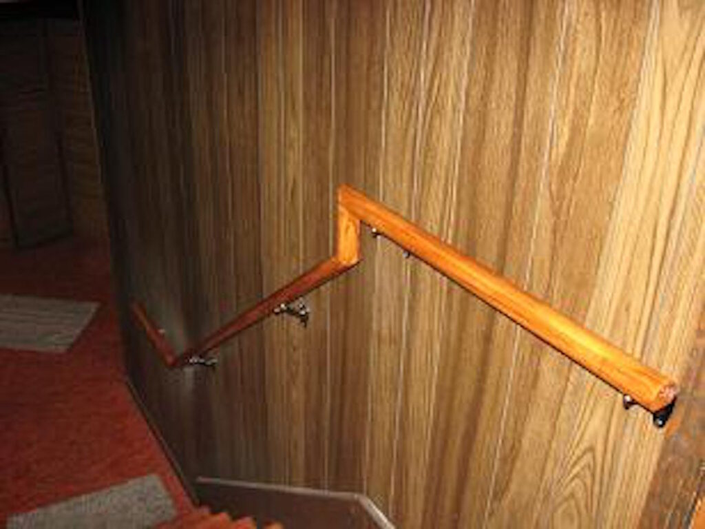 Photo: Wooden Stair Handrails installed by Accessibility Remodeling