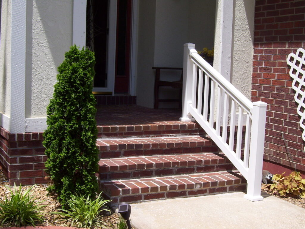 Photo: Vinyl Handrails installed by Accessibility Remodeling