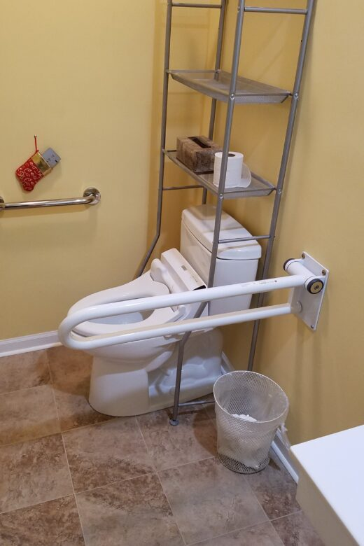 Photo: Accessible toilet with bidet and grab bars