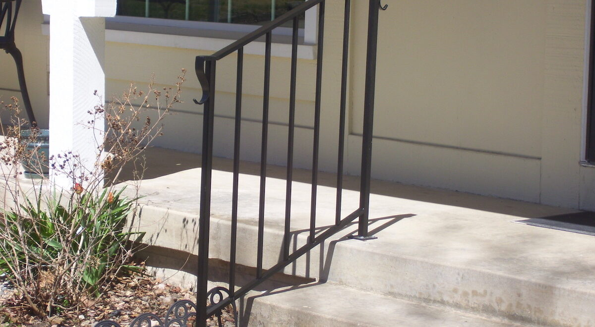 Photo: Metal Handrails installed by Accessibility Remodeling