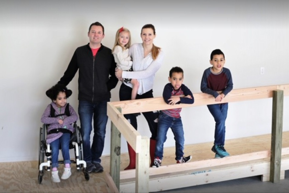 Photo: Sinclair Family, happy Accessibility Remodeling customers
