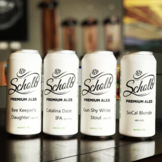 4pk of Cans or Growler Fill w/ Logo Mask