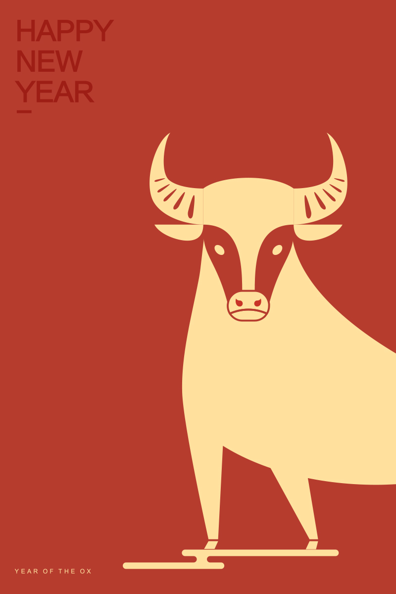 Happy New Year, 2021 is the Year of the Ox!