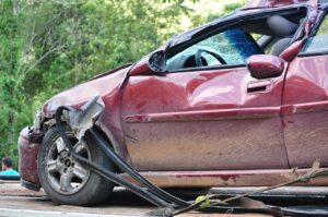 a damaged car after a collision