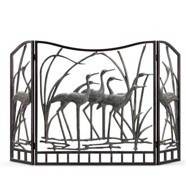Crane Flock Fireplace Screen
