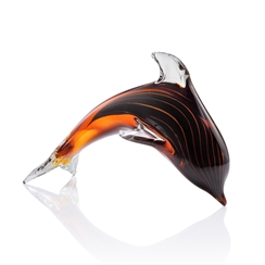 Glass Cresting Dolphin