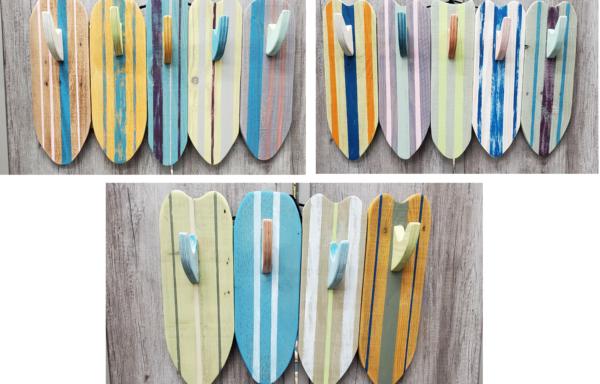 Wood Cut Surf Towel Rack