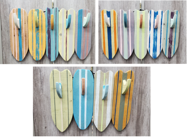 Wood Cut Surf Towel Rack