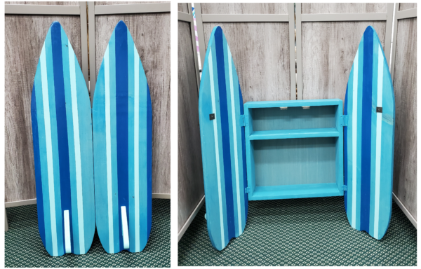 Wood Cut Surf Cabinet