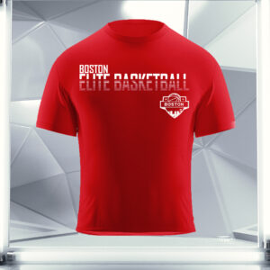 red boston elite basketball shirt