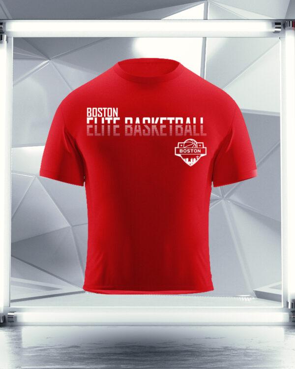 red boston elite basketball shirt