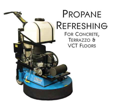aztec refresher propane multi-purpose floor machine