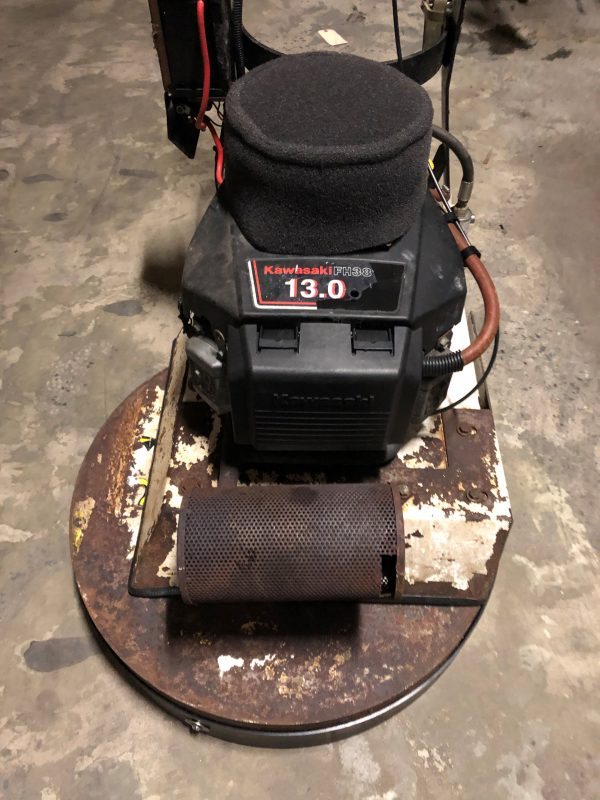 Refurbished Aztec Sidewinder 24 inch propane floor stripper SW 010 2394 - 1