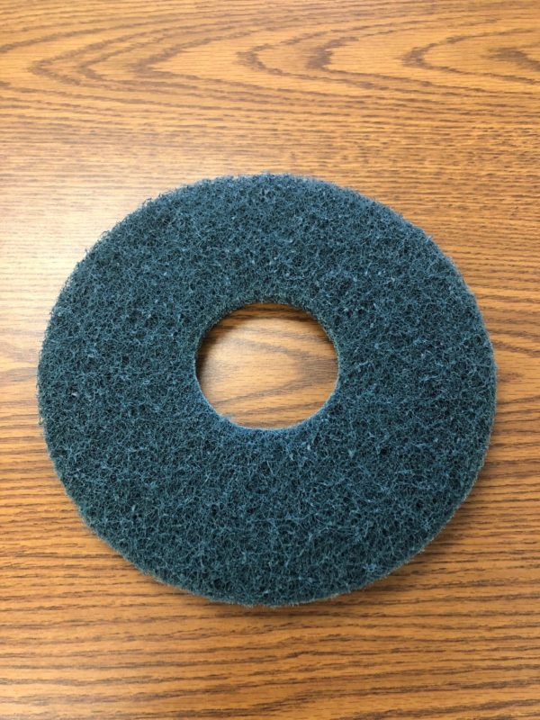 BLACK 10 INCH SCRUBBING STRIPPING PAD FOR AZTEC SIDEWINDER FLOOR STRIPPER