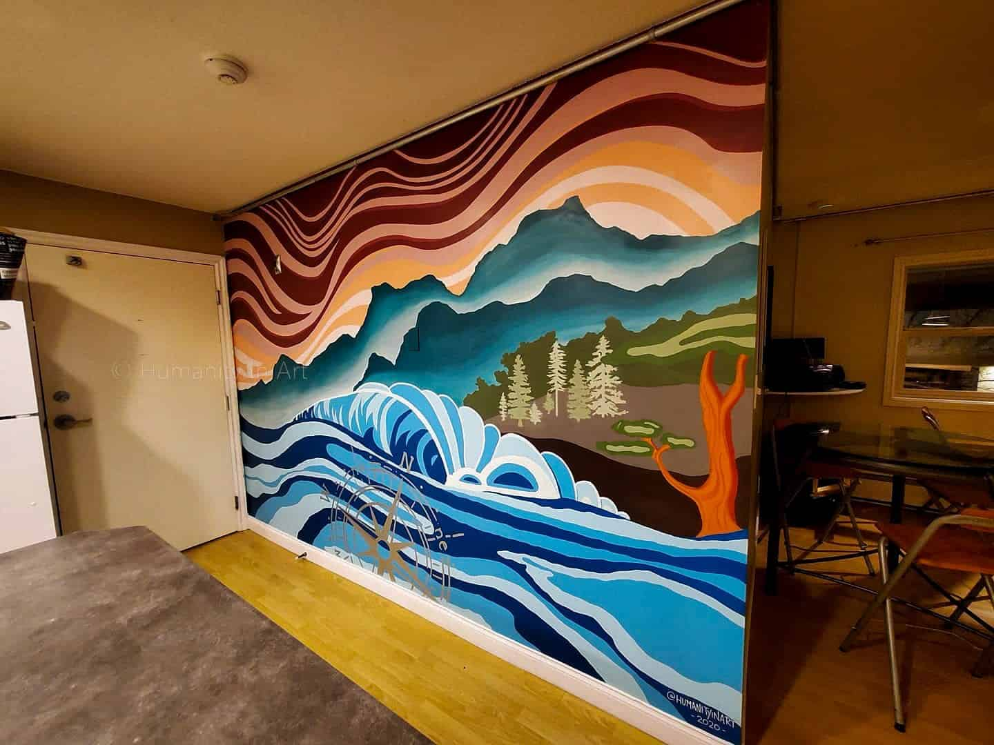 Interior Mural featuring a west coast theme