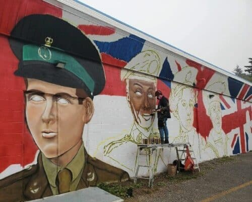 Exterior Mural for Legion Branch 256