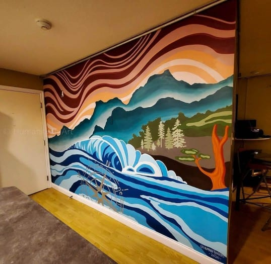 Interior West Coast style Mural