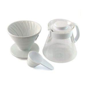 Cafetera V60 Hario Dripper, jarra + filtros