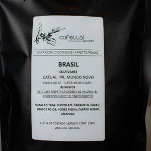 Café en grano Cafetto Prado Brasil 250g