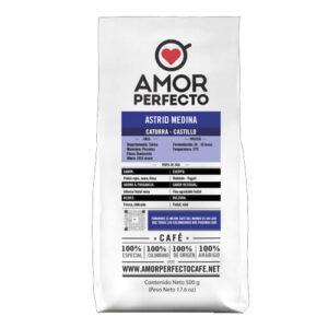 Café en grano Amor perfecto Astrid Medina 500g