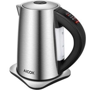 Hervidor eléctrico Aicok c/ control de temperatura 1,7L