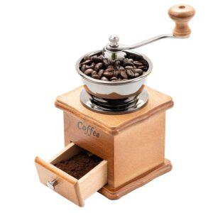 Molinillo de café manual base de madera
