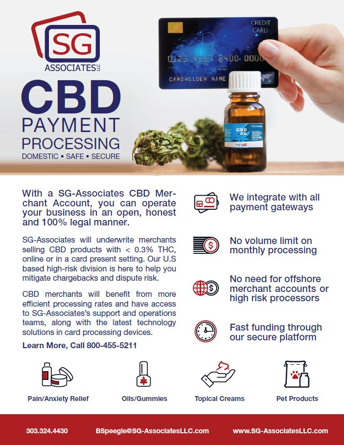 SG-Associates CBD Payment Processing Flyer