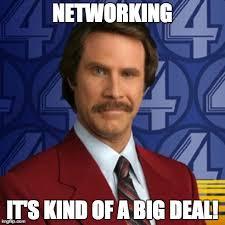 Networking Meme Anchor Man