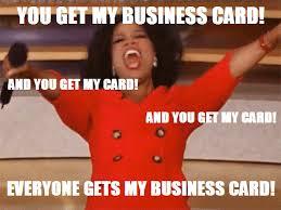 Oprah Business Cards