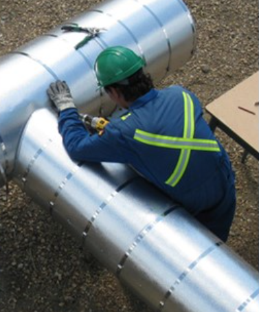 A man working on site