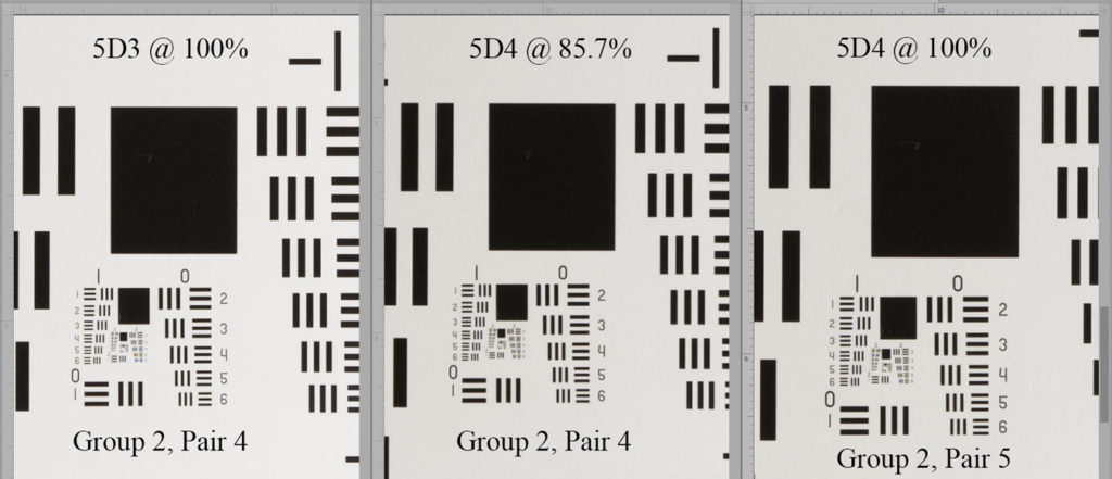 Resolution Comp - Canon 5D3 vs 5D4