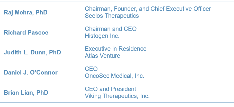 Our Board of Directors at Seelos Therapeutics